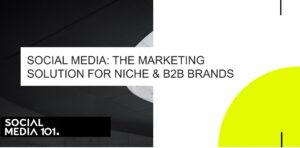 Social Media: The Marketing Solution for Niche & B2B Brands