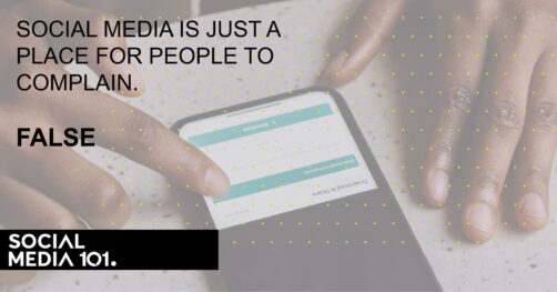 Social media is just a place for people to complain. [FALSE]
